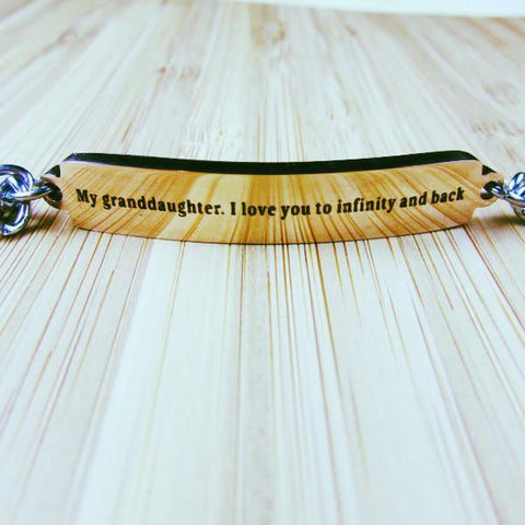 Matching Bracelet: Granddaughter, I Love You to Infinity and Back