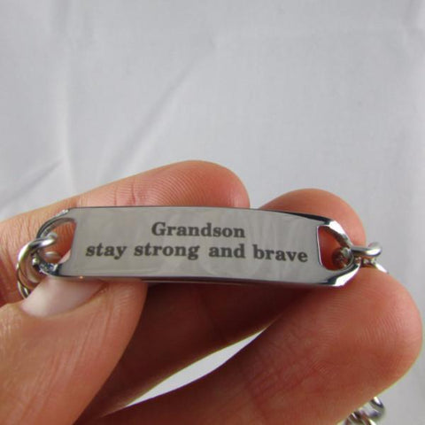 Grandson, Stay Strong and Brave - Bracelet
