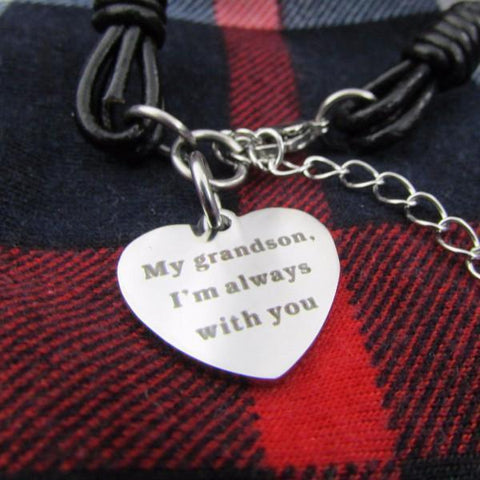My Grandson, I'm Always With You - Bracelet