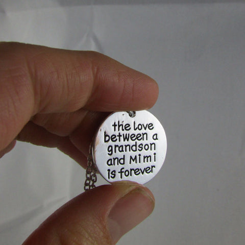 The Love Between a Mimi and Grandson is Forever - Necklace