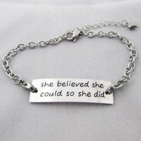 She Believed She Could, So She Did - Bracelet