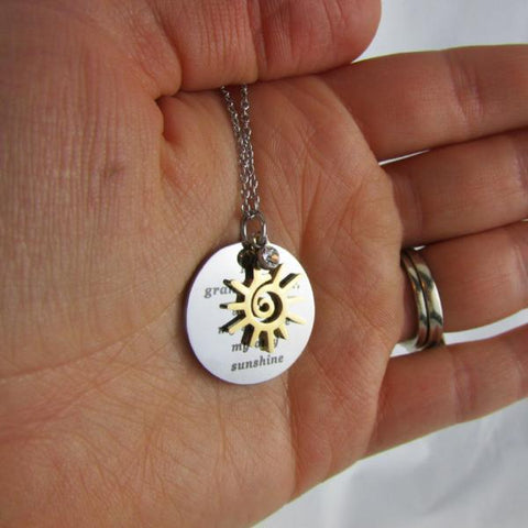 My Granddaughter, You Are My Sunshine, My Only Sunshine - Necklace
