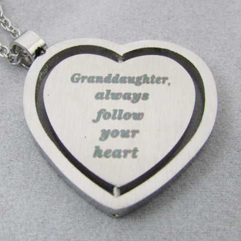 Granddaughter, Always Follow Your Heart - Necklace
