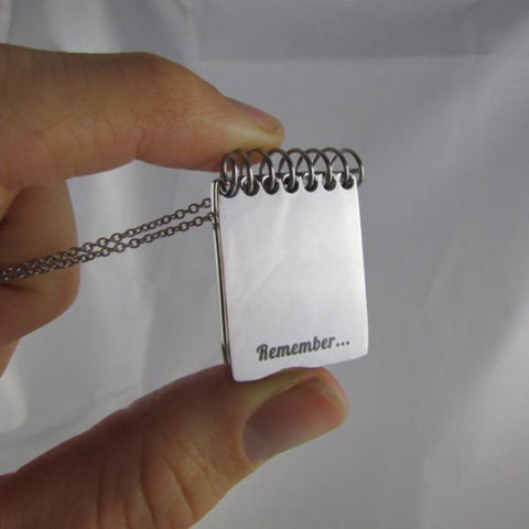 Remember... You are: Unique, Special, Strong, Smart, Kind, Beautiful - Notebook Necklace