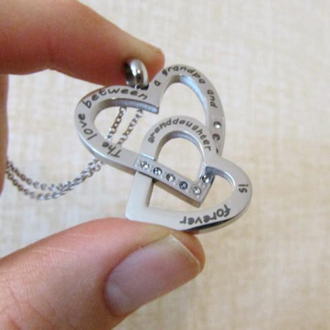 The Love Between a Grandpa and Granddaughter is Forever - Necklace