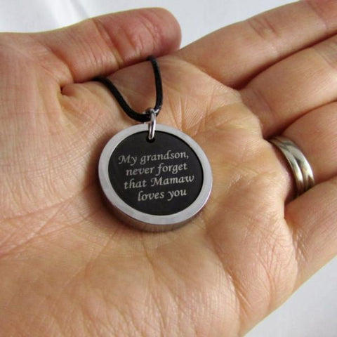 My Grandson, Never Forget That Mamaw Loves You - Necklace