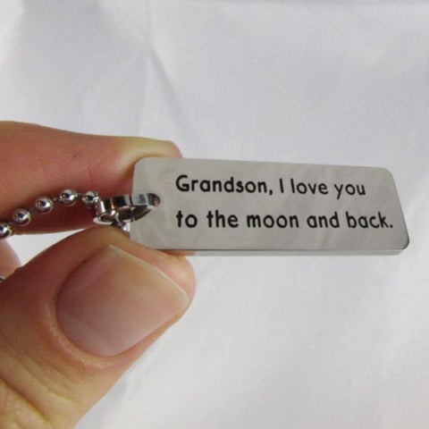 Grandson, I Love You to the Moon and Back - Necklace