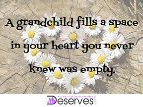 "'A grandchild fills a space in your heart you never knew was empty' - 3"" x 4"" Magnet"