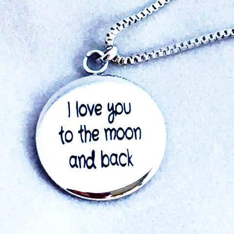 I Love You to the Moon and Back - Reversible Necklace Exclusive Design