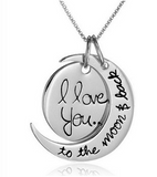 One-of-a-kind 'I Love You to the Moon and Back' Necklace Treasure