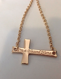 'I'm a Blessed Nana' Cross Necklace