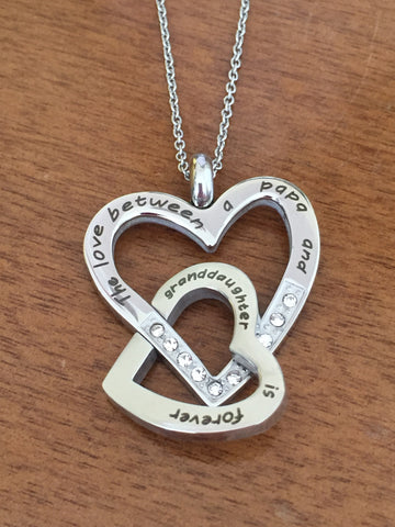 The Love Between a Papa and Granddaughter is Forever - Necklace
