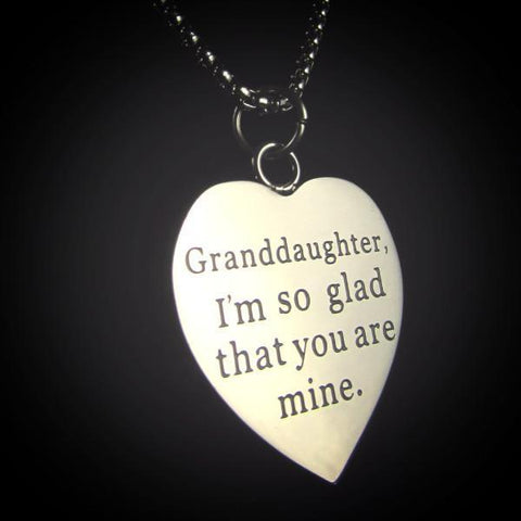 Granddaughter, I'm So Glad You Are Mine - Necklace Collection