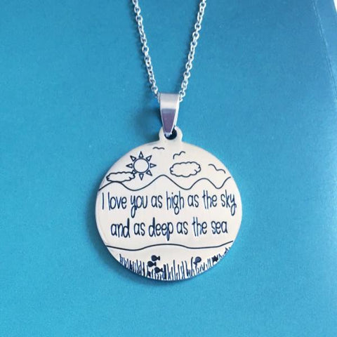 As high as the sky, as deep as the sea - necklace