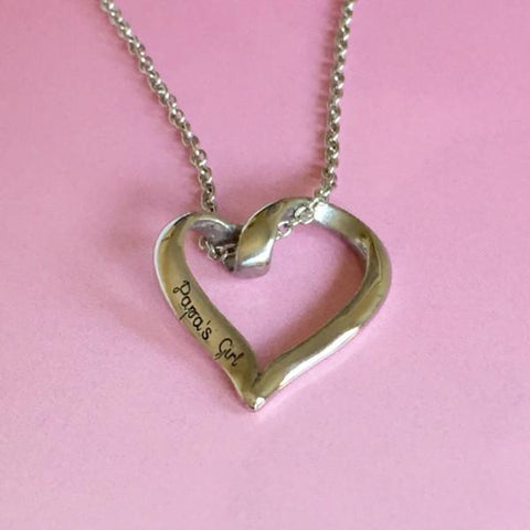 Papa's Girl - Heart Necklace