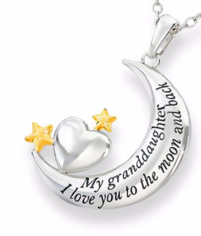 """My Granddaughter, I Love You to the Moon and Back"" Necklace"