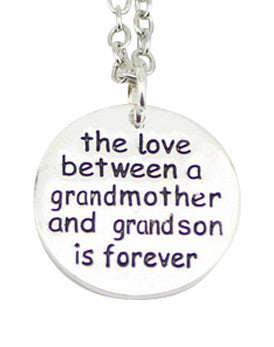 The Love Between a Grandmother and Grandson is Forever Necklace - Only $12 for 3 Days Only