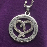 Granddaughter the circle of our love goes forever-necklace