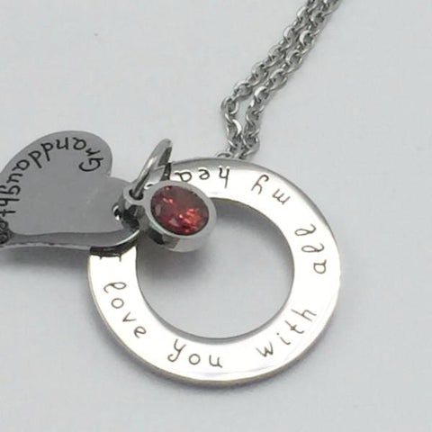 Granddaughter, I Love You With all My Heart - Necklace