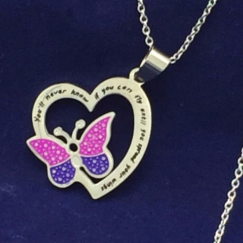 You Will Never Know if You Can Fly Until You Spread Your Wings - Necklace