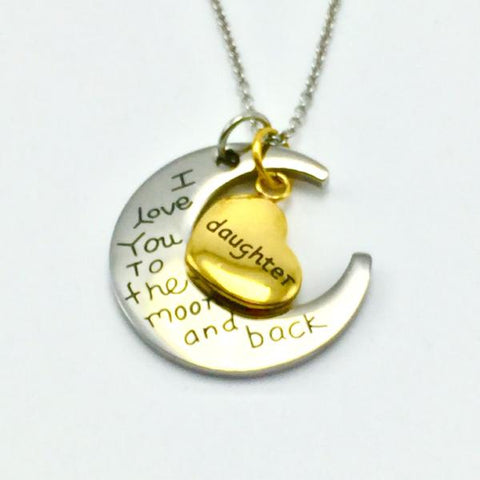 'Daughter, I love you to the moon and back' Necklace Treasure