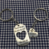There's This Girl, She Stole My Heart. She Calls Me Granddad/Granddad's Girl - Keychains