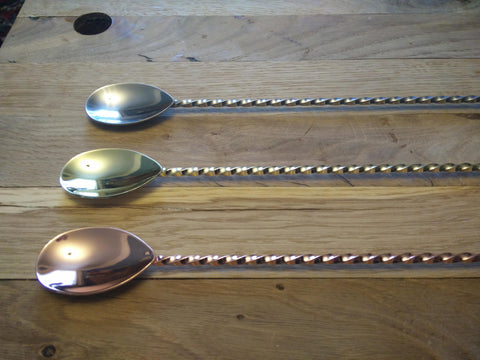 40cm Barspoon with Dowel Copper