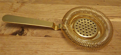 European Style Hawthorne Strainer - Gold Plated