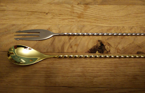 30cm barspoon trident Gold
