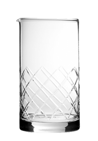 Urban Bar Calabrese Footed Mixing Glass three Cuts 600ml