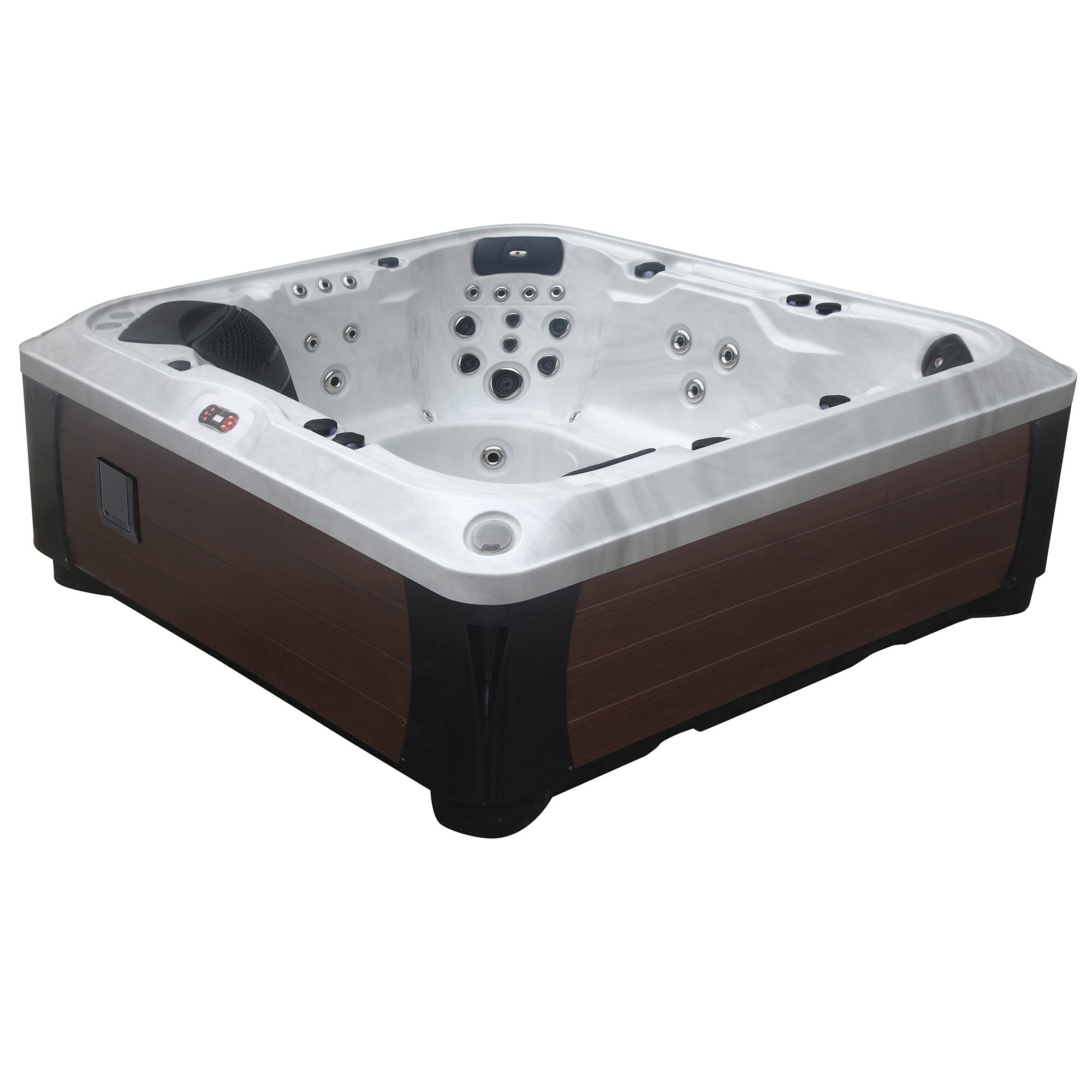 with dp system spa com person sanitization hot streamer bluetooth tub ozone waterfall stereo lounger led amazon outdoor spas jet am garden american