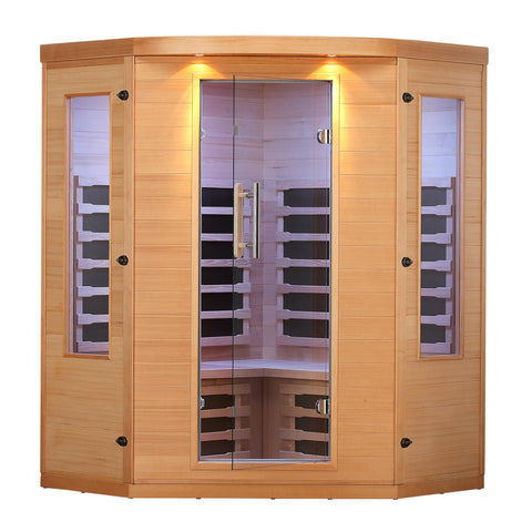 Aspen 4 Person Far Infrared Corner Sauna