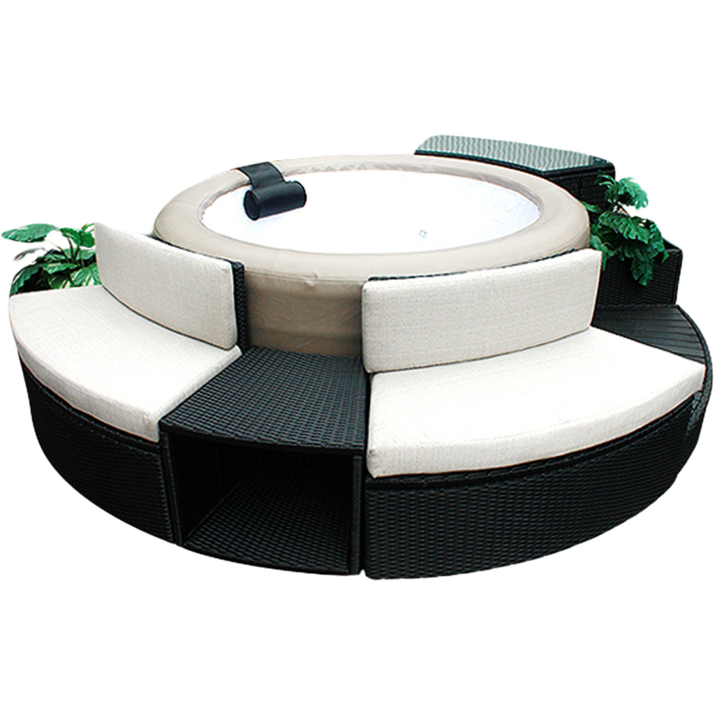 Love Seat - Round Spa Surround Furniture