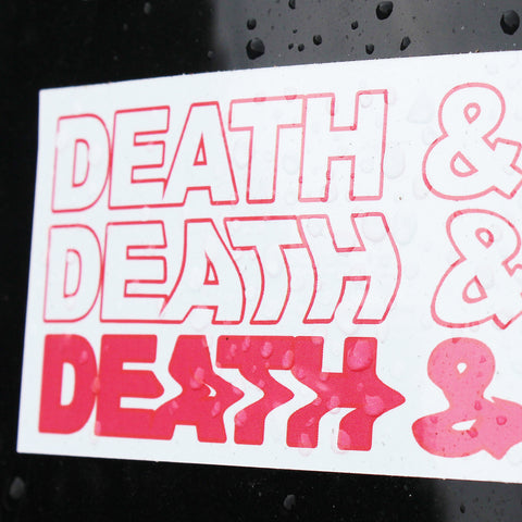 DEATH & DYING VINYL STICKER