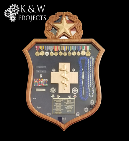 Air Force Senior Medical Badge Shadow Box