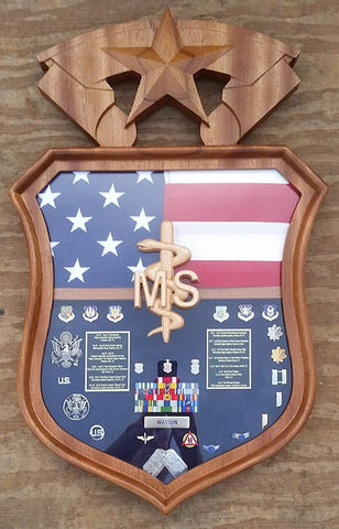 Air Force Medical Service Corps Insignia Shadow Box