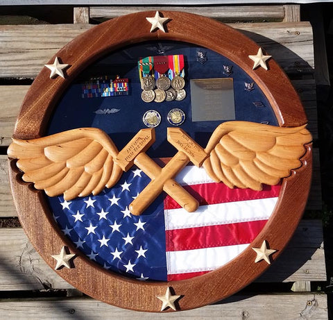 Navy Aviation Wings Shadow Box Style 2