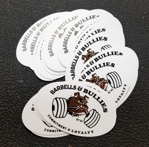 Barbells and Bullies Stickers and Patch