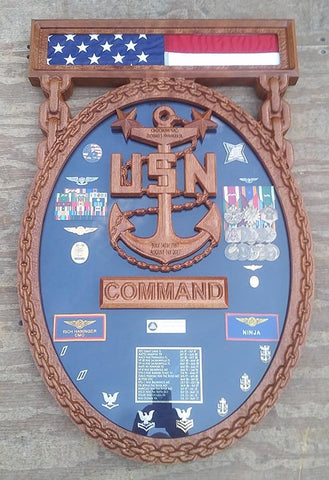 Navy Enlisted Command Badge Shadow Box