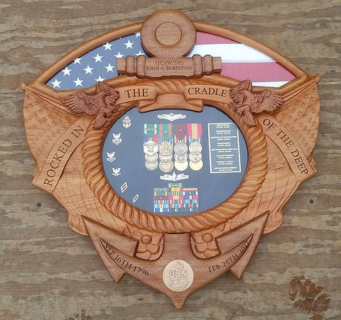 American Shadow Box with Flag Area