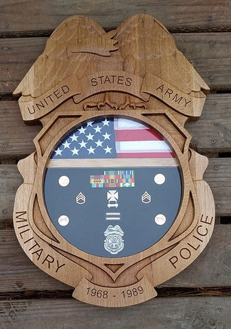 Army Military Police Badge Shadow Box