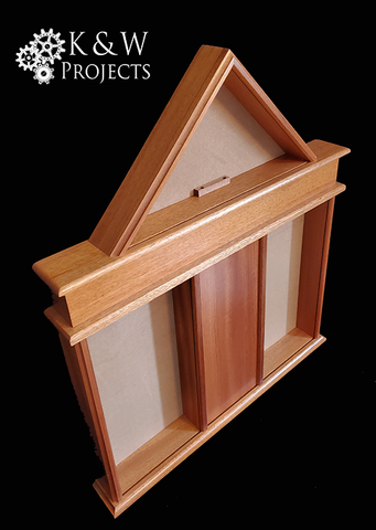 Dog House Shadow Box 28x33.25 Mahogany
