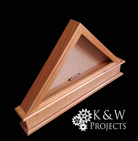 Flag Display Mahogany for Memorial sized 27x17x3.5