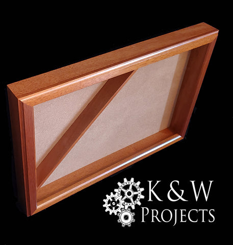 Picture Frame Shadow Box / Flag Display Case 16x24 Mahogany