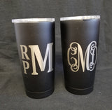 20oz and 30oz Stainless Steel Double Walled Travel Mug