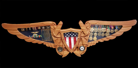 Naval Flight Officer NFO Shadow Box