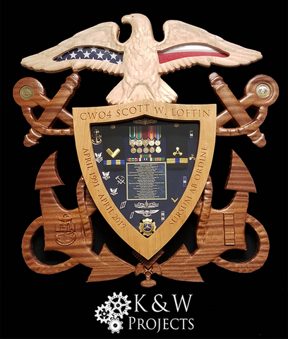 U.S. Navy Officer Crest Shadow Box