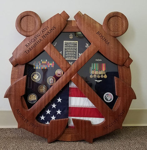 Bos'n Boatswain's mate BM Shadow Box