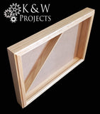 Picture Frame Shadow Box / Flag Display Case 16x24 Oak