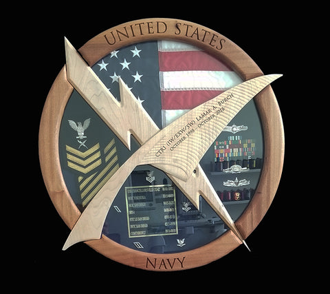Cryptologic Technician CT Shadow Box
